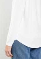 MANGO - Long sleeve loose fit top - white