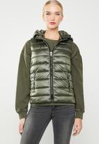 MANGO - Detachable hooded gilet - khaki
