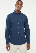STYLE REPUBLIC - Button-up long sleeve shirt - blue & black
