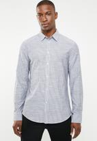 STYLE REPUBLIC - Button-up long sleeve shirt - blue & white
