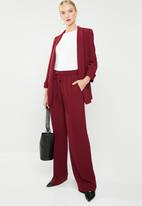 MANGO - Tie waist easy trousers - burgundy