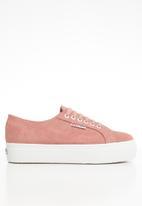 SUPERGA - 2790 Full suede flatform wedge - pink peach