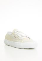 SUPERGA - 2750 Jersey frosted soft glitter - white gold