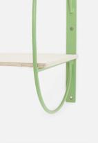 Sixth Floor - Rounded shelf - green
