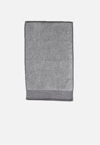 Linen House - Plush marle hand towel - charcoal