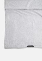 Linen House - Plush marle bath sheet - grey
