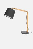 Sixth Floor - Bessie table lamp - black