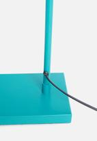 Sixth Floor - Waldo floor lamp - teal