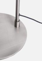 Sixth Floor - Odin floor lamp - plated pewter