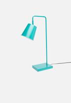 Sixth Floor - Waldo table lamp - teal