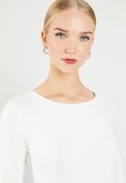 MANGO - Long sleeve T-shirt - white