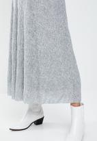 MANGO - Midi textured skirt - grey
