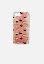 Typo - Shake it iphone sushi case 6,7,8 - pink