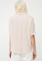 Superbalist - Georgette boxy shirt - pink