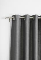 Sixth Floor - Eyelet curtain 2 pack - charcoal