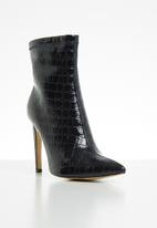 Public Desire - Faux leather ankle boot - navy