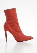 Public Desire - Yaya stiletto heel boot - rust