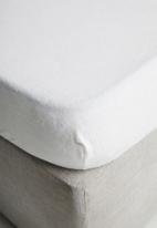 Linen House - Flannelette sheet set - white
