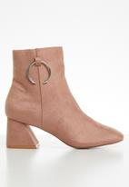 Public Desire - Bff ankle boot - pink