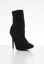 Public Desire - Yaya stiletto heel boot - black