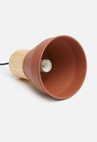 Sixth Floor - Kai pendant - wood/rust