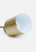 Sixth Floor - Lone pendant - wood/brass