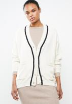 MANGO - Faux fur effect cardigan - cream