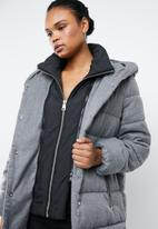 MANGO - Quilted puffer with inner gilet - grey