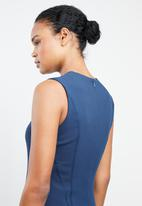 MANGO - Seam bodycon shift dress - blue
