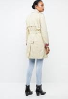 MANGO - Double breast trench - cream