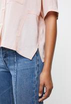 MANGO - Oversized blouse - pink