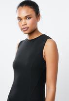 MANGO - Seam bodycon shift dress - black
