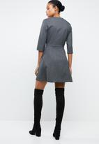 MANGO - Double-breasted dress - grey