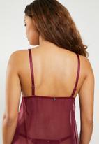 ff13cc3938b Non padded chemise - red with black cord Sissy Boy Sleepwear ...