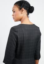 MANGO - Double-breasted dress - black