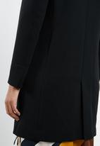 MANGO - Longline structured coat - black