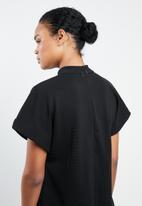 MANGO - Ribbed mini dress - black