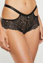 Sissy Boy - Allover lace boyleg - black