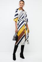 MANGO - Stripe printed shirt dress - multi