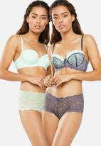 DORINA - Layla 2 pack hipster - grey & green