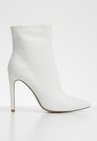 Public Desire - Faux leather ankle boot - white