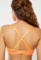 Superbalist - Lace convertible bra - orange