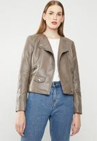 MANGO - Biker jacket - brown