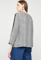 MANGO - Tape trim blouse - grey