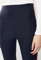 MANGO - Slim pinstripe pants with side stripe - multi