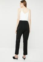 MANGO - Monochrome jumpsuit - black & white
