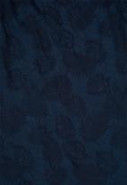MANGO - Knot jacquard dress - navy