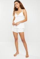 DORINA - Romy shorts - white & pink