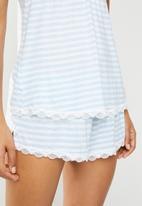 DORINA - Romy yarn dye camisole - blue & white