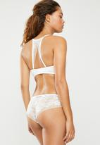 DORINA - Lianne geo floral lace hipster - white